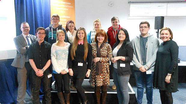 Doncaster Trainees meet BT Managing Director Libby Barr