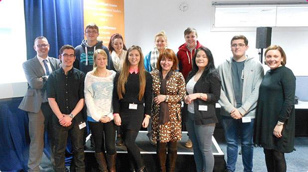 Doncaster Trainees meet BT Managing Director Libby Barr