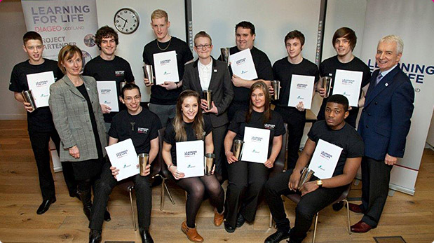 Graduates of Diageo's Learning for Life bartender course in Glasgow, February 2014